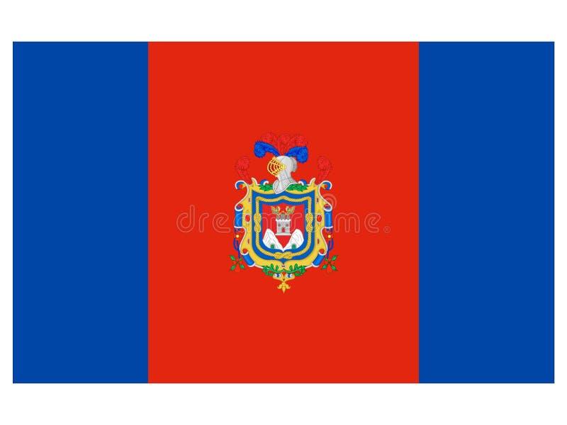 Flagga av staden av Quito stock illustrationer