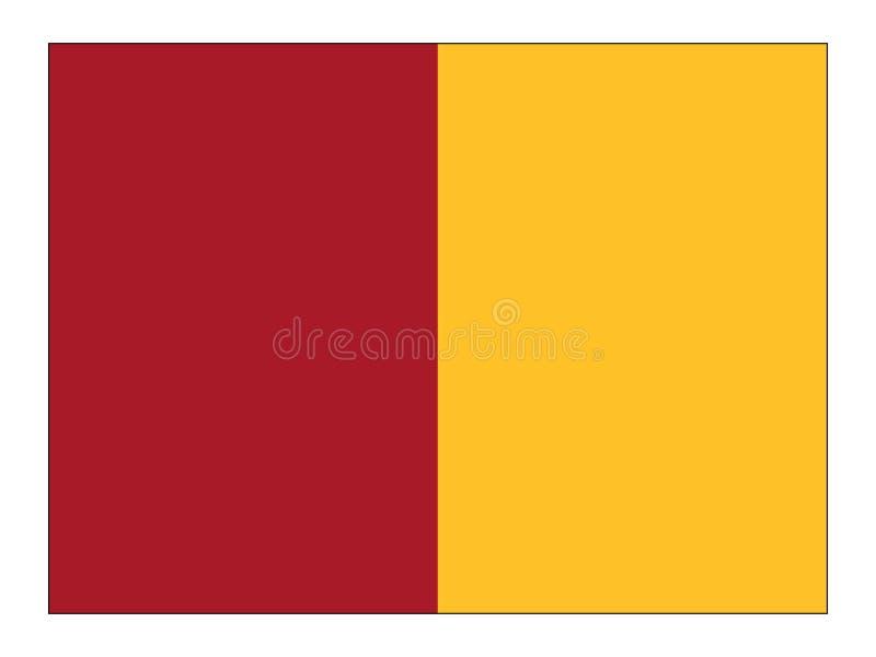 Flagga av staden av Rome royaltyfri illustrationer