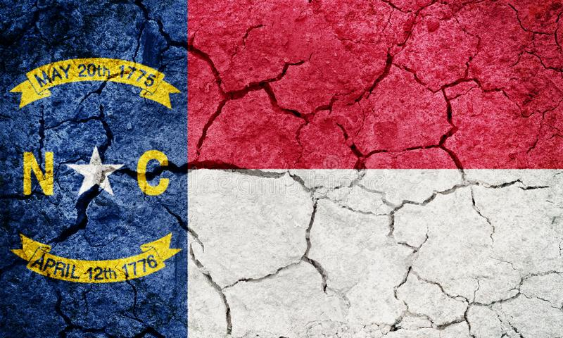 Flagga av staten av North Carolina vektor illustrationer