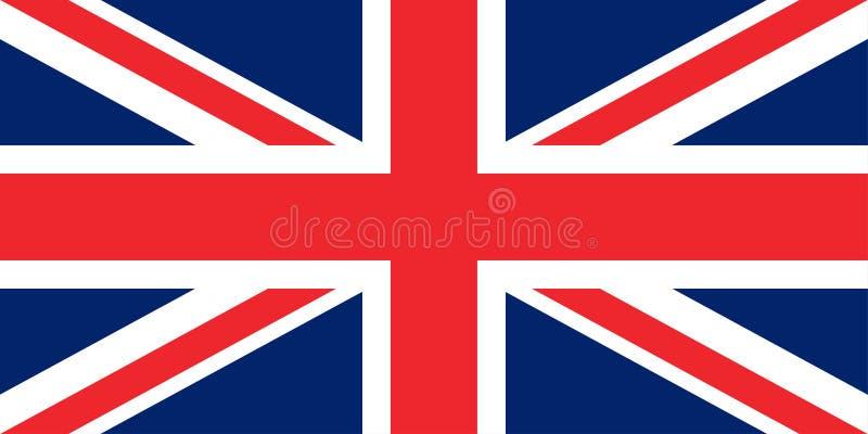 Flagga av Storbritannien de original- proportionerna royaltyfri illustrationer
