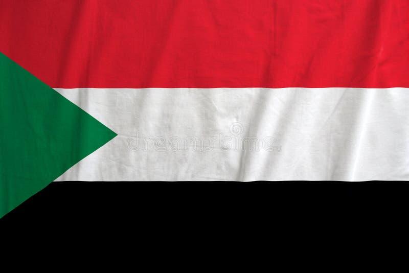 Flagga av Sudan att vinka fotografering för bildbyråer