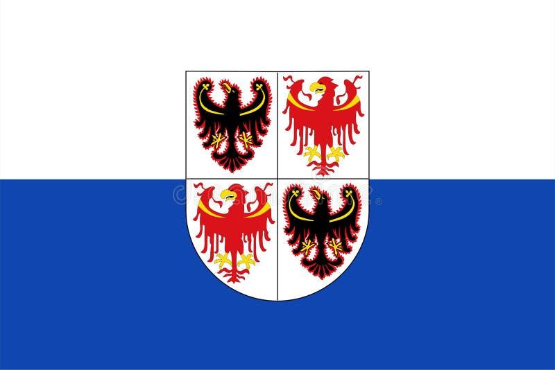 Flagga av Sudtirol vektor illustrationer
