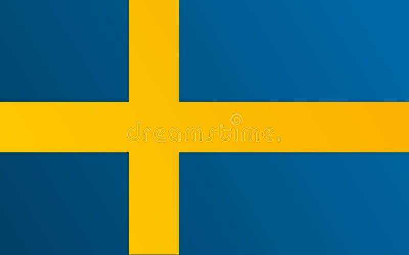 Flagga av Sverige med övergångsfärg - vektorbild vektor illustrationer