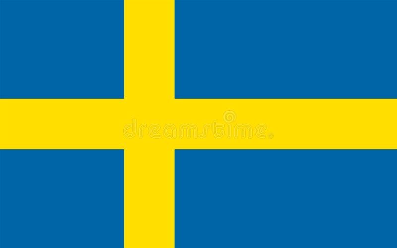 Flagga av Sverige, vektorillustration vektor illustrationer
