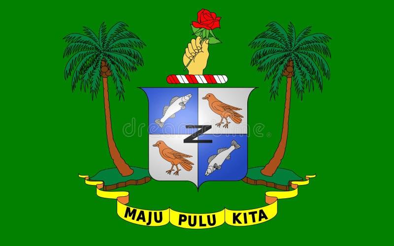 Flagga av territoriet av de CocosKeeling öarna arkivfoton