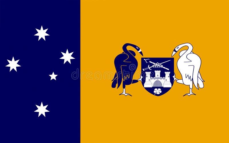 Flagga av territoriet för australisk huvudstad stock illustrationer