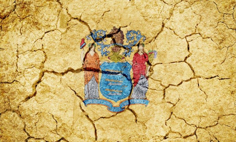Flagga av tillståndet av nytt - ärmlös tröja royaltyfri illustrationer