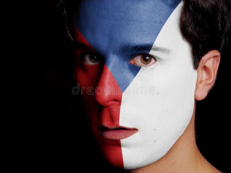 Flagga av Tjeckien fotografering för bildbyråer