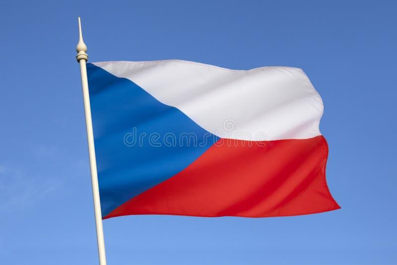 Flagga av Tjeckien - Europa royaltyfria bilder