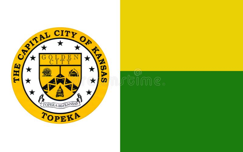 Flagga av Topeka i Kansas, USA royaltyfri fotografi