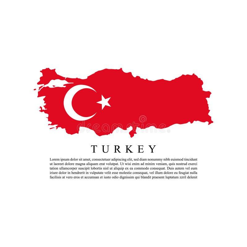 Flagga av Turkiet stock illustrationer