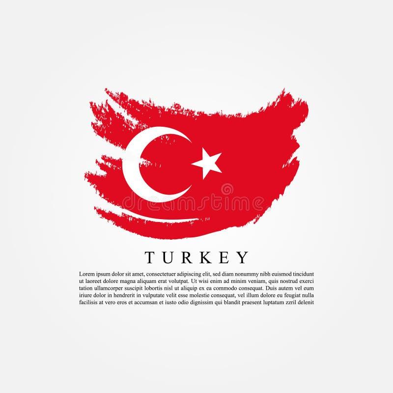 Flagga av Turkiet vektor illustrationer