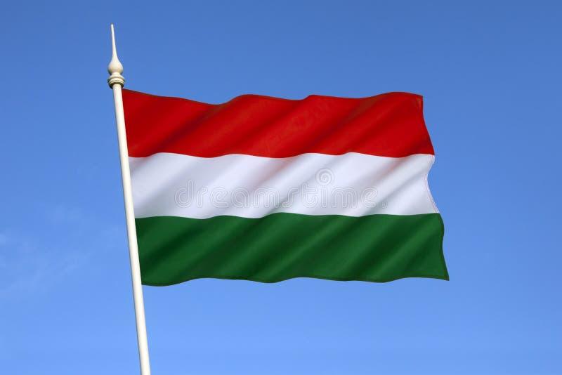 Flagga av Ungern - Europa arkivfoton