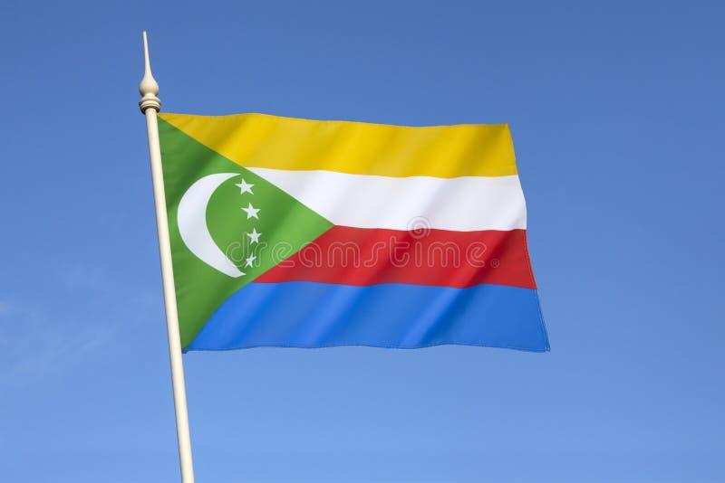 Flagga av unionen av Comoros arkivbild