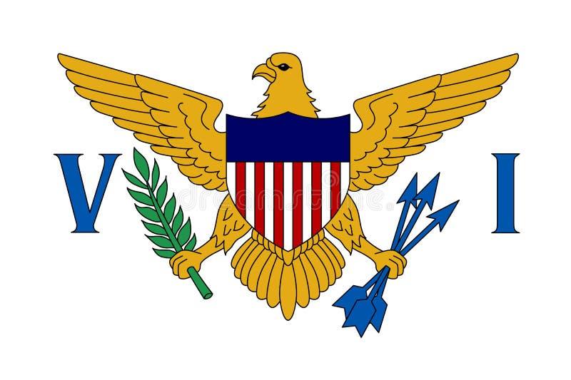 Flagga av United States Virgin Islands vektor illustrationer