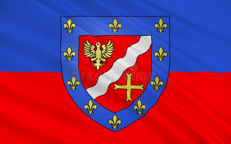 Flagga av Val-dOise, Frankrike royaltyfri bild