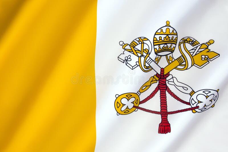Flagga av Vatican City royaltyfri foto