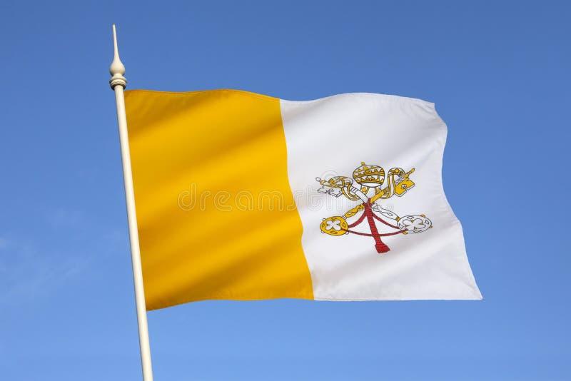 Flagga av Vaticanet City - Rome - Italien arkivbilder