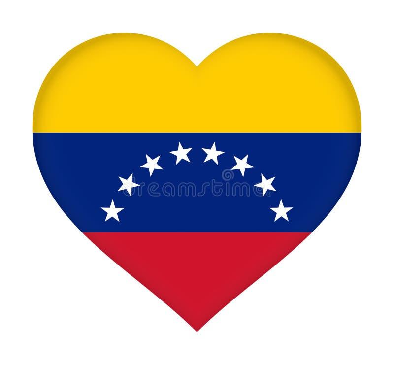 Flagga av Venezuela hjärta stock illustrationer