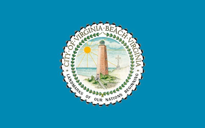 Flagga av Virginia Beach i Virginia, USA royaltyfri foto