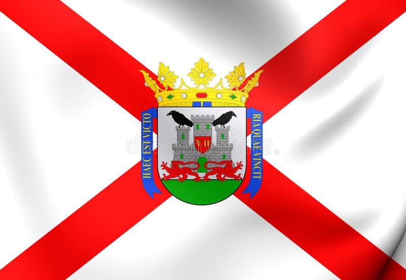 Flagga av Vitoriaen-Gasteiz, baskiskt land stock illustrationer