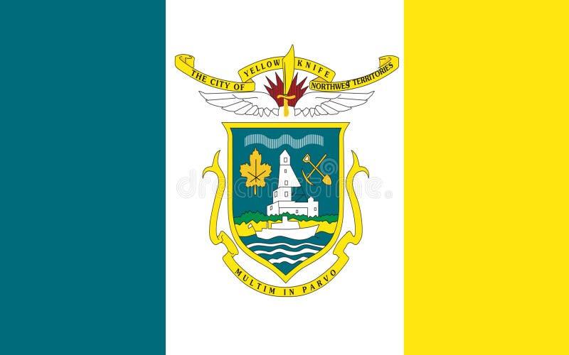 Flagga av Yellowknife i Northwest Territories, Kanada fotografering för bildbyråer