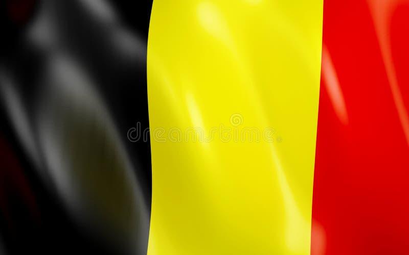flagga 3D av Belgien vektor illustrationer