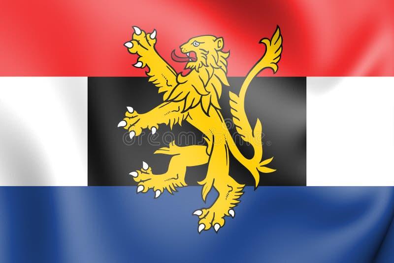 flagga 3D av Benelux vektor illustrationer