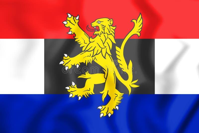 flagga 3D av Benelux stock illustrationer