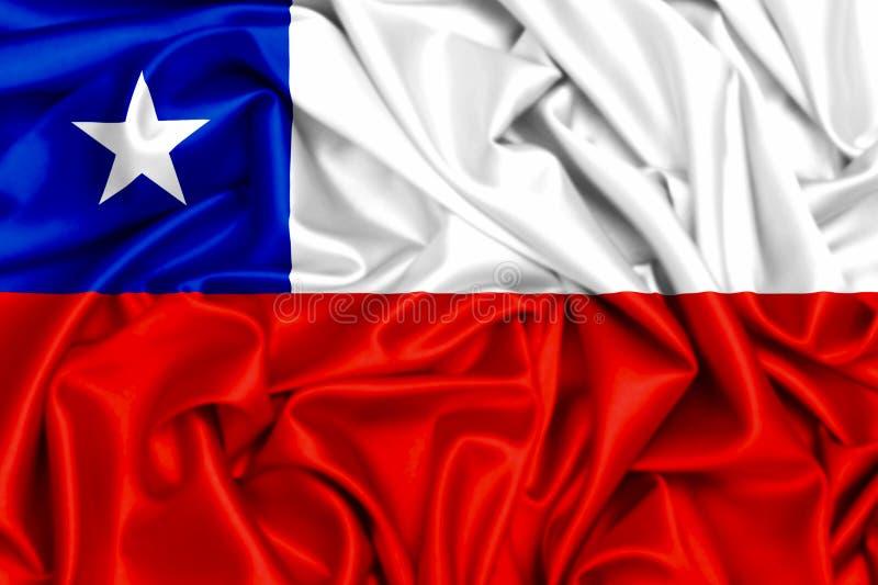 flagga 3d av Chile att vinka stock illustrationer