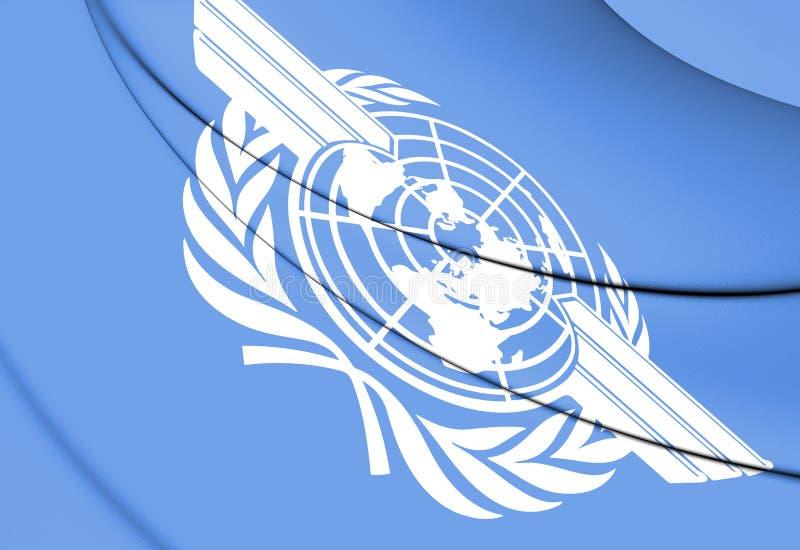 flagga 3D av ICAO stock illustrationer