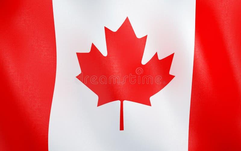 flagga 3D av Kanada vektor illustrationer