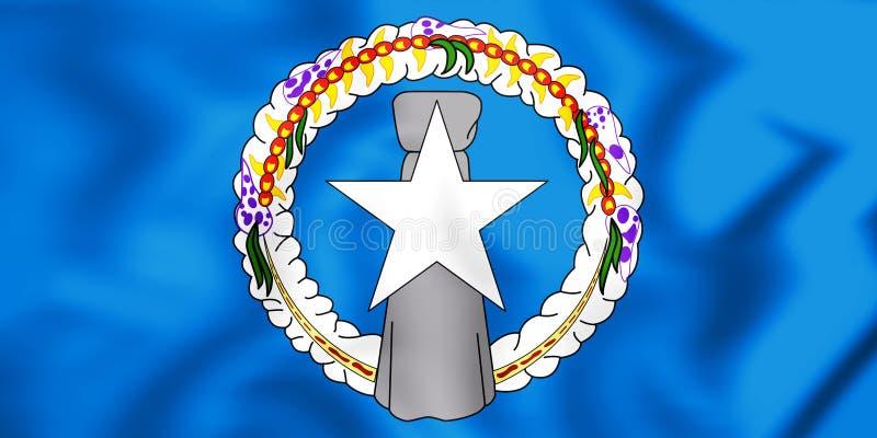 flagga 3D av nordliga Mariana Islands vektor illustrationer
