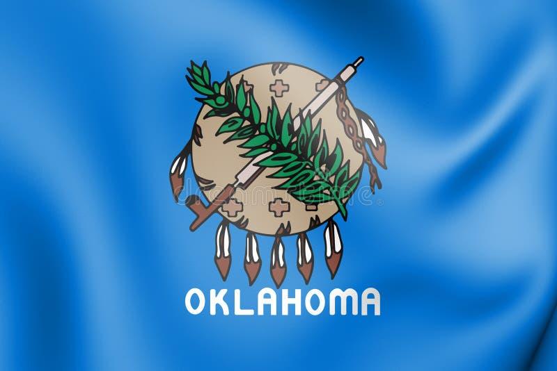 flagga 3D av Oklahoma 1988-2006, USA stock illustrationer