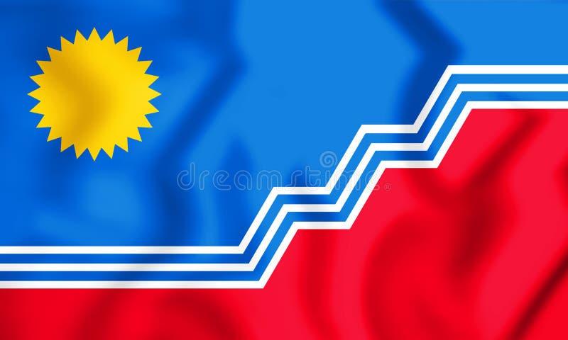 flagga 3D av Sioux Falls South Dakota, USA vektor illustrationer