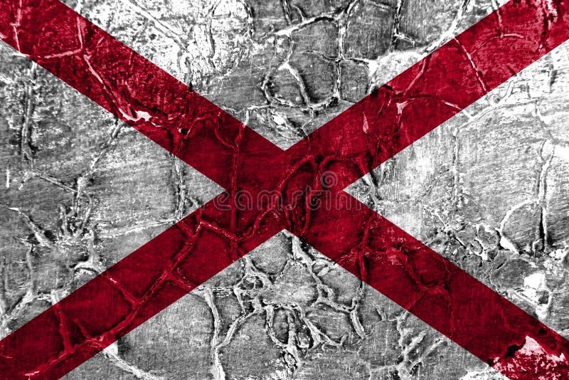 Flagga för Alabama statgrunge, Amerikas förenta stater royaltyfri foto