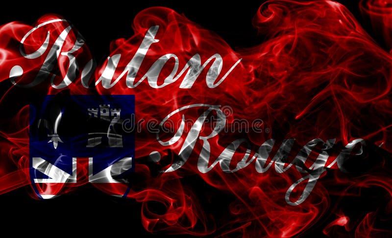 Flagga för Baton Rouge stadsrök, Louisiana stat, Förenta staterna av A royaltyfri foto