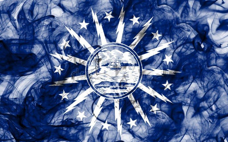 Flagga för buffelstadsrök, New York stat, Förenta staterna av Americ royaltyfri illustrationer