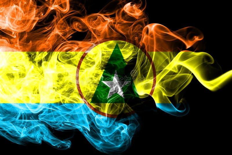Flagga för Cabinda proivncerök, Angola beroende territoriumflagga stock illustrationer