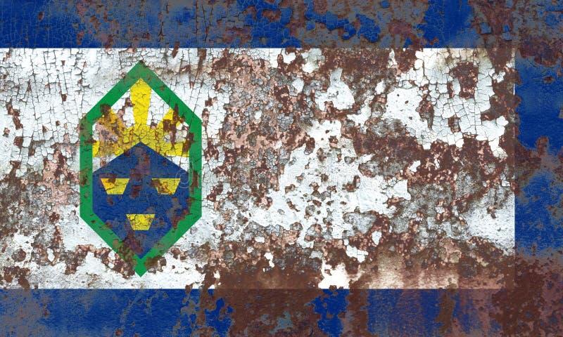 Flagga för Colorado Springs stadsrök, Colorado tillstånd, Förenta staterna arkivbild