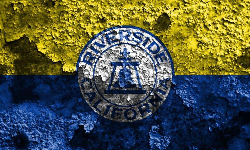 Flagga för flodstrandstadsrök, Kalifornien stat, Förenta staterna av f.m. fotografering för bildbyråer