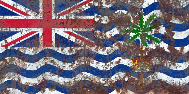 Flagga för grunge för brittiskt Indiska oceanenterritorium, brittiska utländska Ter royaltyfri fotografi