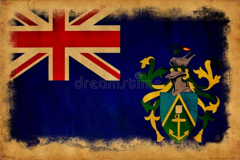 Flagga för grunge för Pitcairn öar royaltyfri foto