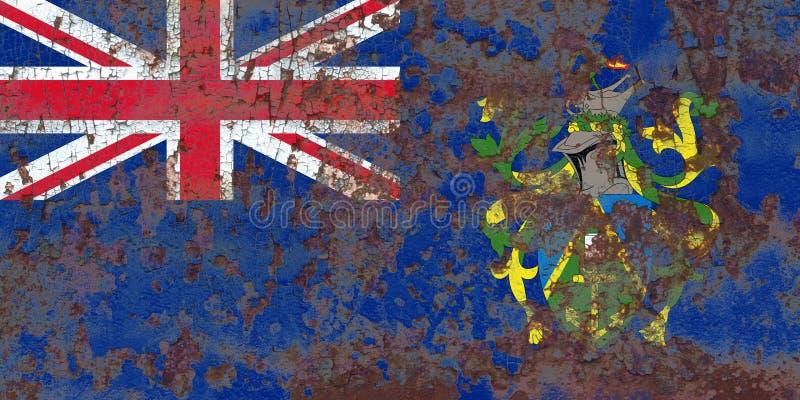 Flagga för grunge för Pitcairn öar, brittiska utländska territorier, britt arkivbilder
