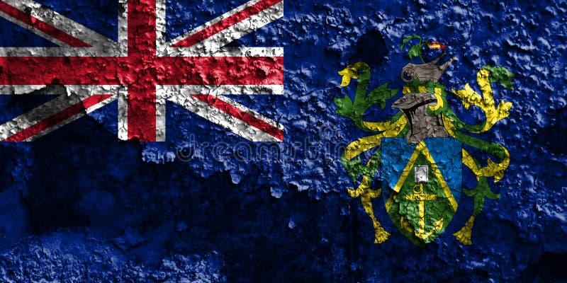 Flagga för grunge för Pitcairn öar, brittiska utländska territorier, britt arkivbild