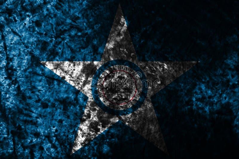 Flagga för Houston stadsgrunge, Texas State, Amerikas förenta stater vektor illustrationer