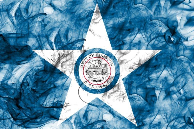 Flagga för Houston stadsrök, Texas State, Amerikas förenta stater arkivbilder