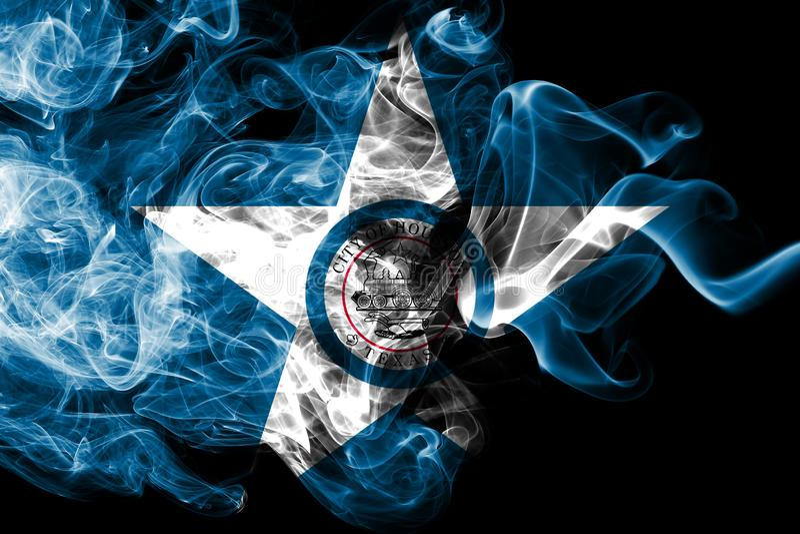 Flagga för Houston stadsrök, Texas State, Amerikas förenta stater royaltyfri illustrationer