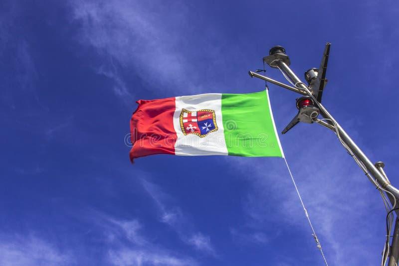 Flagga för italiensk marin arkivbild