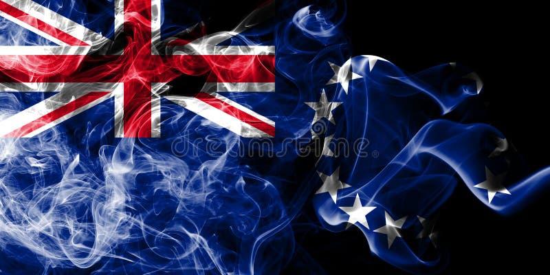 Flagga för kockIslands rök, ny Zaeland beroende territoriumflagga vektor illustrationer